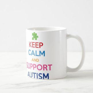 Keep Calm And Support Autism Basic White Mug