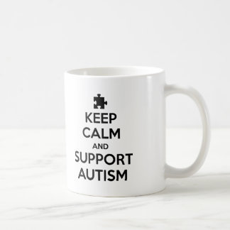 Keep Calm And Support Autism Coffee Mugs