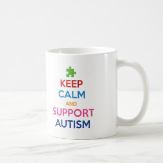 Keep Calm And Support Autism Mugs