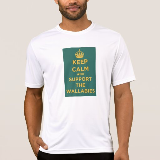 Keep Calm And Support The Wallabies - T-Shirt
