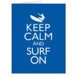 Keep Calm and Surf On Big Greeting Card