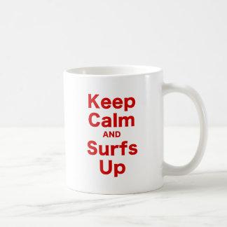 Keep Calm and Surfs Up Coffee Mugs
