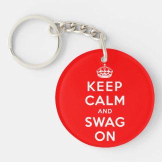 Keep Calm and Swag On Acrylic Keychains