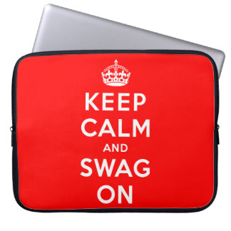 Keep Calm and Swag On Laptop Sleeve