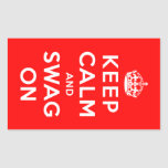 Keep Calm and Swag On Rectangle Stickers