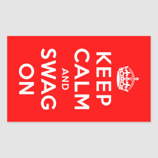 Keep Calm and Swag On Rectangular Sticker