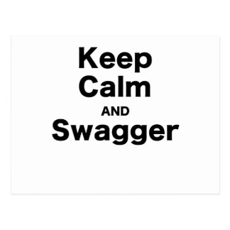 Keep Calm and Swagger Post Cards