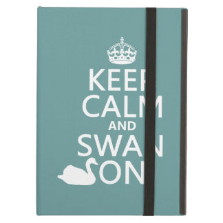 Keep Calm and Swan On - all colors Cover For iPad Air