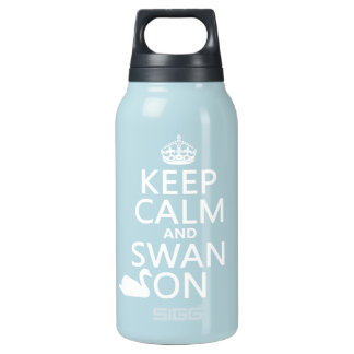 Keep Calm and Swan On - all colors Insulated Water Bottle