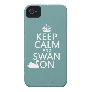 Keep Calm and Swan On - all colors iPhone 4 Cover