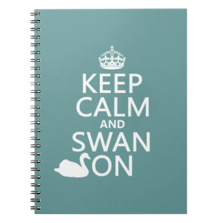 Keep Calm and Swan On - all colors Notebook