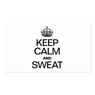 KEEP CALM AND SWEAT PACK OF STANDARD BUSINESS CARDS