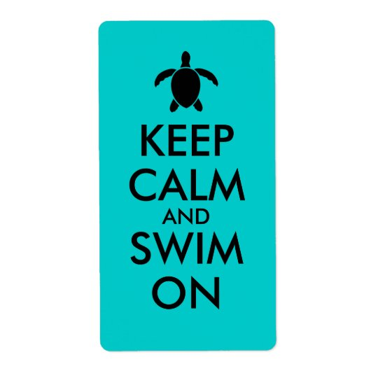Keep Calm and Swim On Honu Sea Turtle Custom