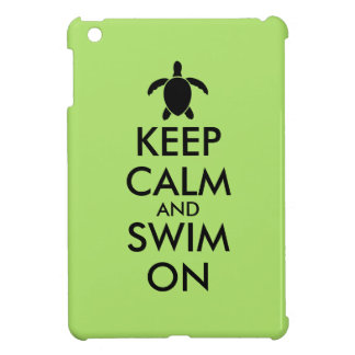 Keep Calm and Swim On Honu Sea Turtle Custom iPad Mini Cover