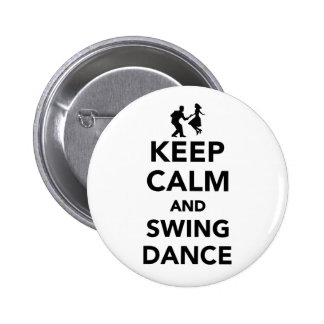 Keep calm and swing dance 6 cm round badge