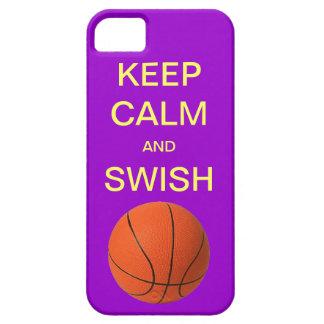KEEP CALM AND SWISH BASKETBALL iPhone 5 Case