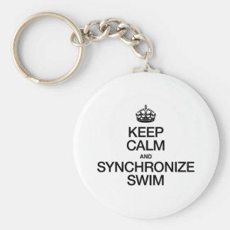 KEEP CALM AND SYNCHRONIZE SWIM KEY CHAIN