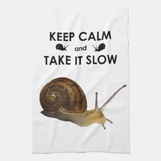 Keep Calm and Take it Slow Kitchen Towel