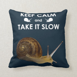 Keep Calm and Take it Slow Pillow (Navy)