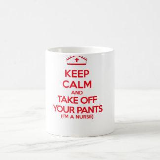 Keep Calm and Take Off Your Pants Coffee Mug