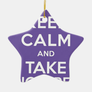 Keep Calm And Take Pictures Ceramic Star Decoration
