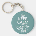 Keep Calm and Take The Pills (in all colours) Key Chain