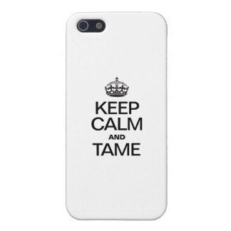 KEEP CALM AND TAME iPhone 5 CASE