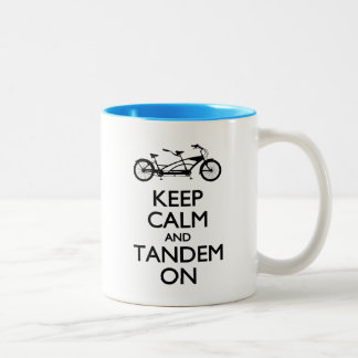 Keep Calm and Tandem On Two-Tone Coffee Mug