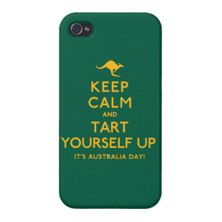 Keep Calm and Tart Yourself Up! iPhone 4 Case