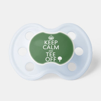 Keep Calm and Tee Off - Golf presents, all colors. Baby Pacifier
