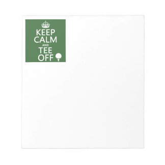 Keep Calm and Tee Off - Golf presents, all colors. Notepad