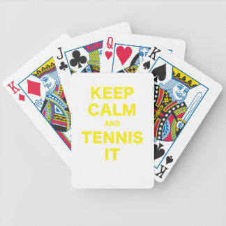 Keep Calm and Tennis It Bicycle Card Deck