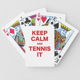 Keep Calm and Tennis It Bicycle Card Decks