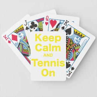 Keep Calm and Tennis On Bicycle Card Decks