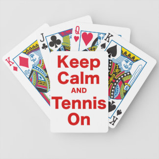 Keep Calm and Tennis On Bicycle Poker Deck