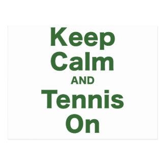Keep Calm and Tennis On Postcard