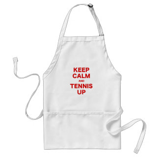 Keep Calm and Tennis Up Apron