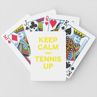 Keep Calm and Tennis Up Bicycle Card Decks