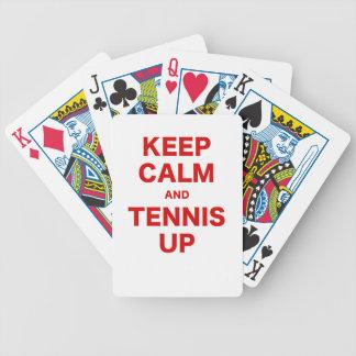 Keep Calm and Tennis Up Card Decks