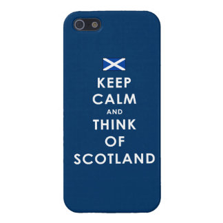 Keep Calm and Think of Scotland iPhone 5 Case