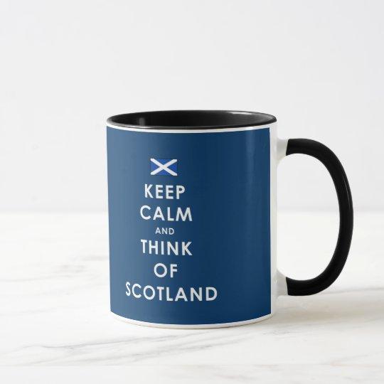 KEEP CALM AND THINK OF SCOTLAND MUG