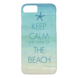 KEEP CALM AND THINK OF THE BEACH PHOTO DESIGN iPhone 8/7 CASE