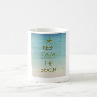 KEEP CALM AND THINK OF THE BEACH PHOTO MUG
