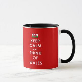 KEEP CALM AND THINK OF WALES MUG