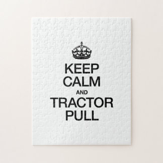 KEEP CALM AND TRACTOR PULL JIGSAW PUZZLE