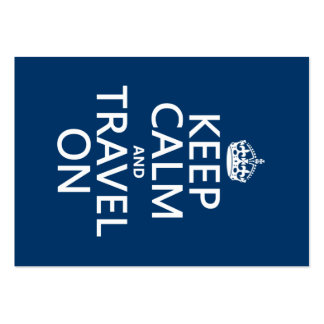 Keep Calm and Travel On - any colors Pack Of Chubby Business Cards