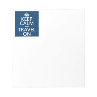 Keep Calm and Travel On Notepad