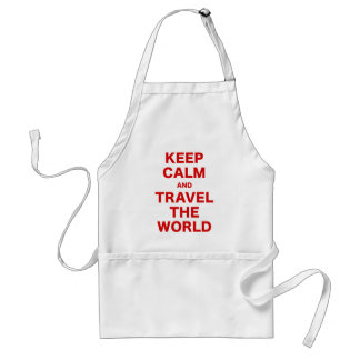 Keep Calm and Travel the World Aprons