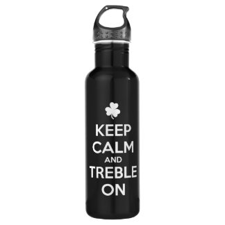 KEEP CALM and TREBLE ON - Irish Dance 710 Ml Water Bottle
