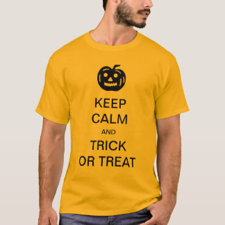 Keep Calm and Trick or Treat funny Halloween Shirt